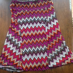 Fun Skirt XL East 5th Pink & Orange